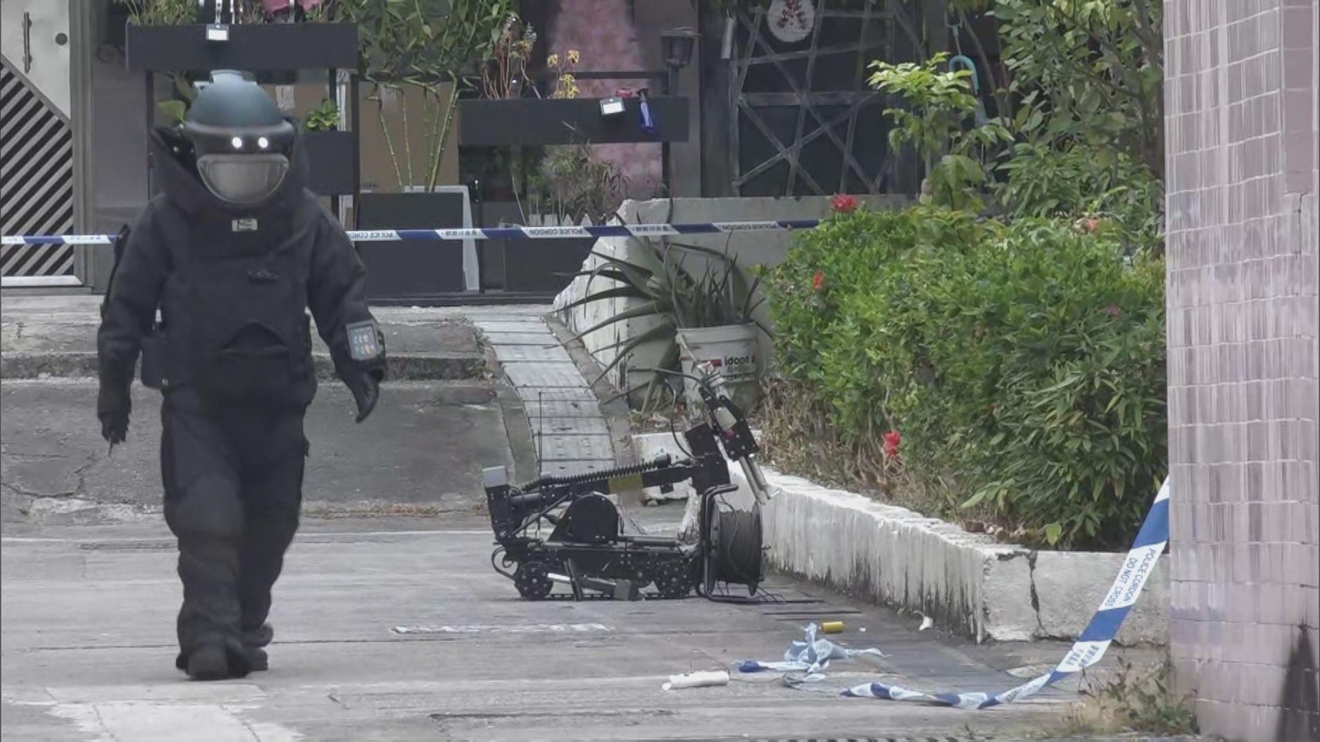 青衣大王下村發現懷疑爆炸品 警方拉起封鎖線