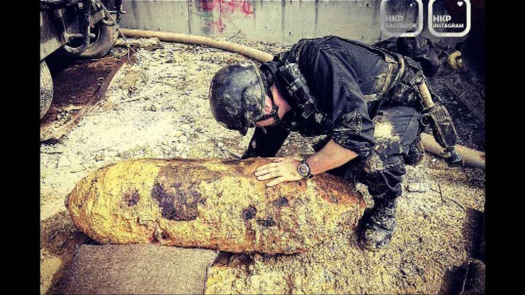 薄扶林地盤發現懷疑戰時炸彈