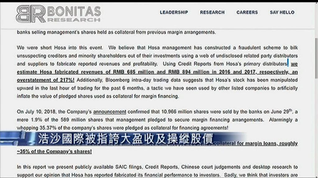 【被「空軍」狙擊】Bonitas:浩沙造數及操控股價