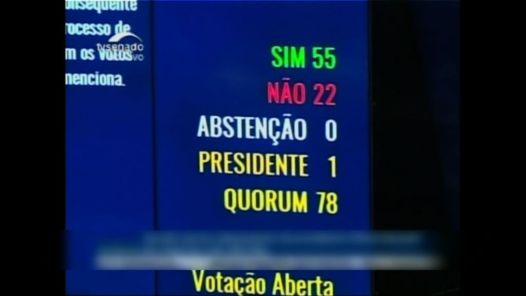 巴西參議院通過彈劾總統 羅塞夫即時停職