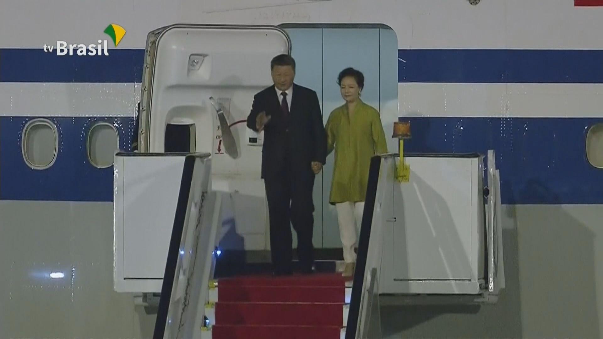 習近平抵達巴西 將金磚國家領導人會晤