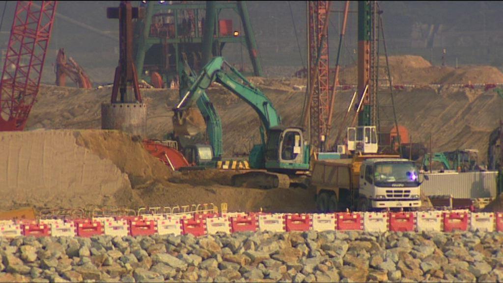 港珠澳橋人工島填料被沖走及下陷