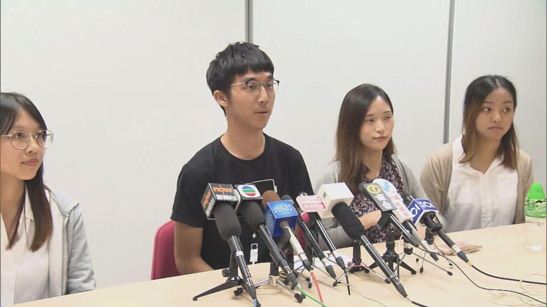 浸大學生記者譴責警方無理拘捕