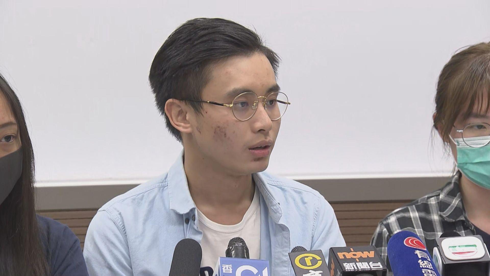 浸大學生記者:被捕時持有合法記者證採訪