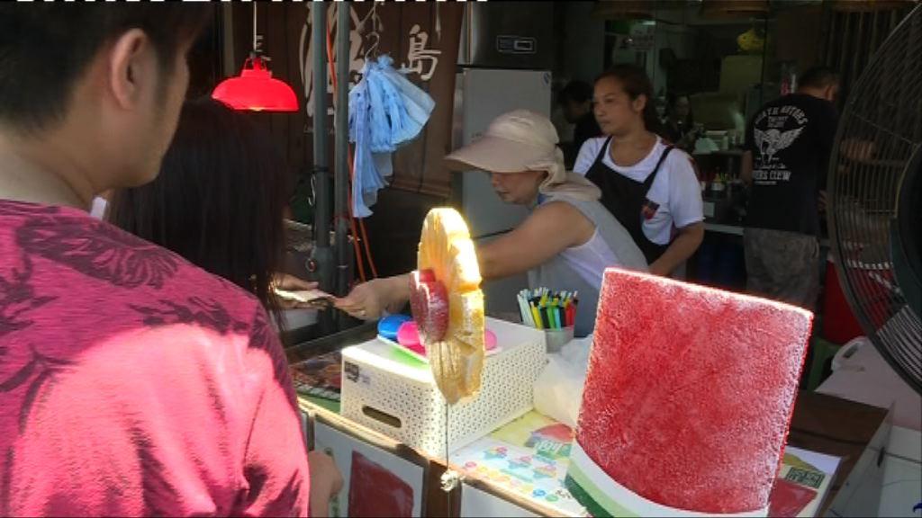 長洲飄色巡遊 冰製食品商戶生意受惠