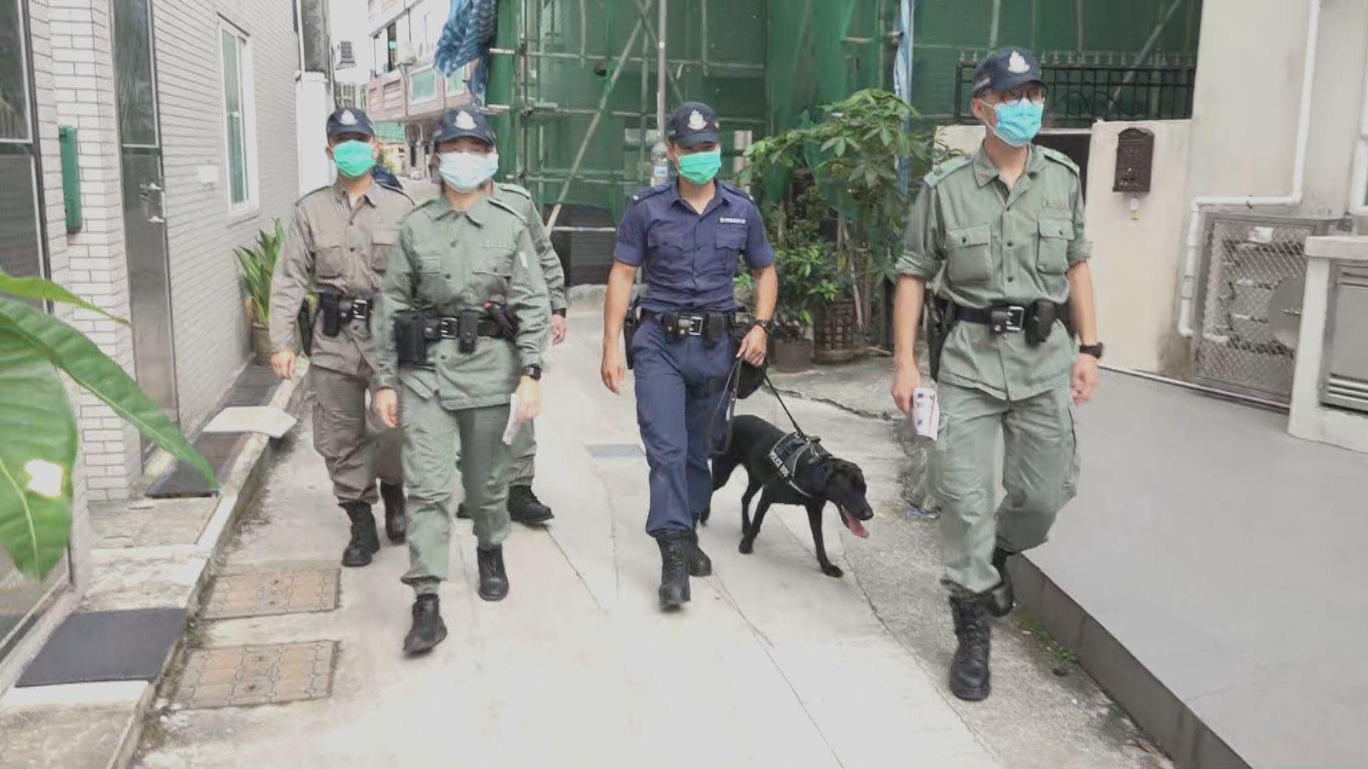 警方西貢展開大規模反爆竊行動