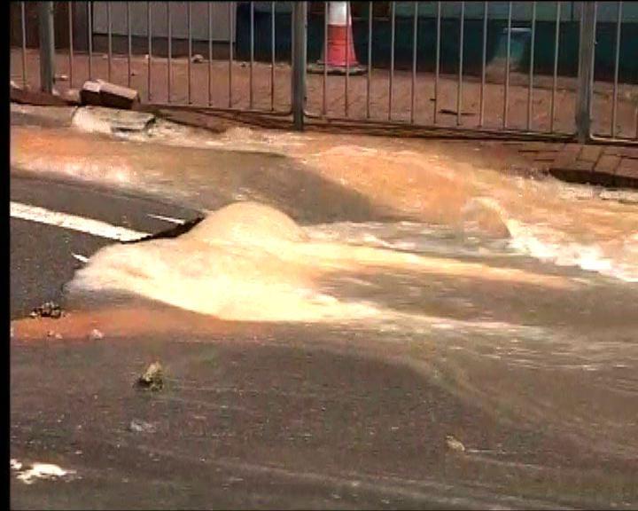 土瓜灣爆水管交通一度受影響