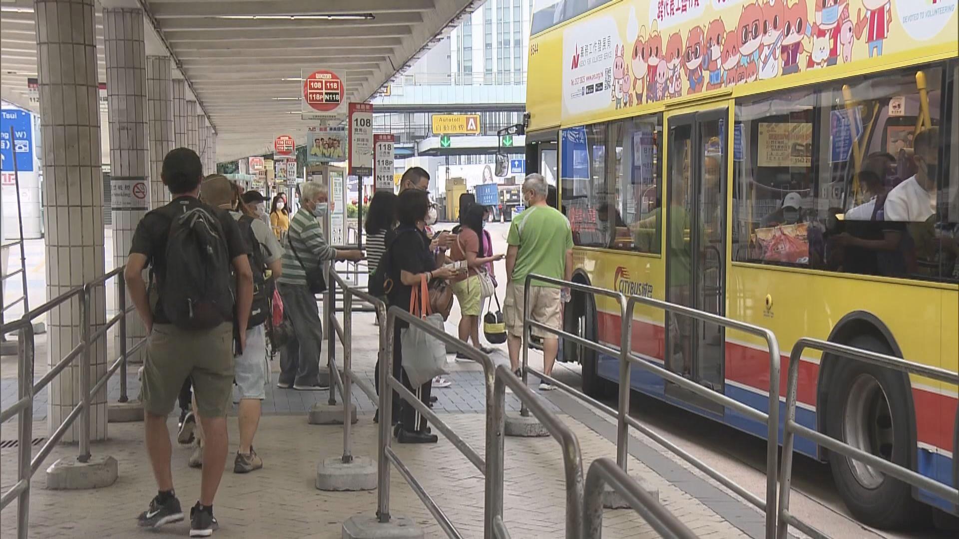 巴士過海路線分兩階段加價一成二 今日加價8.5%