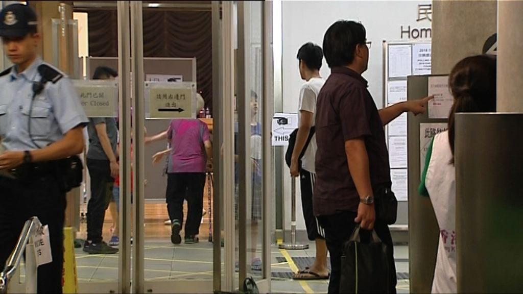 東區佳曉區補選 晚上繼續有選民投票
