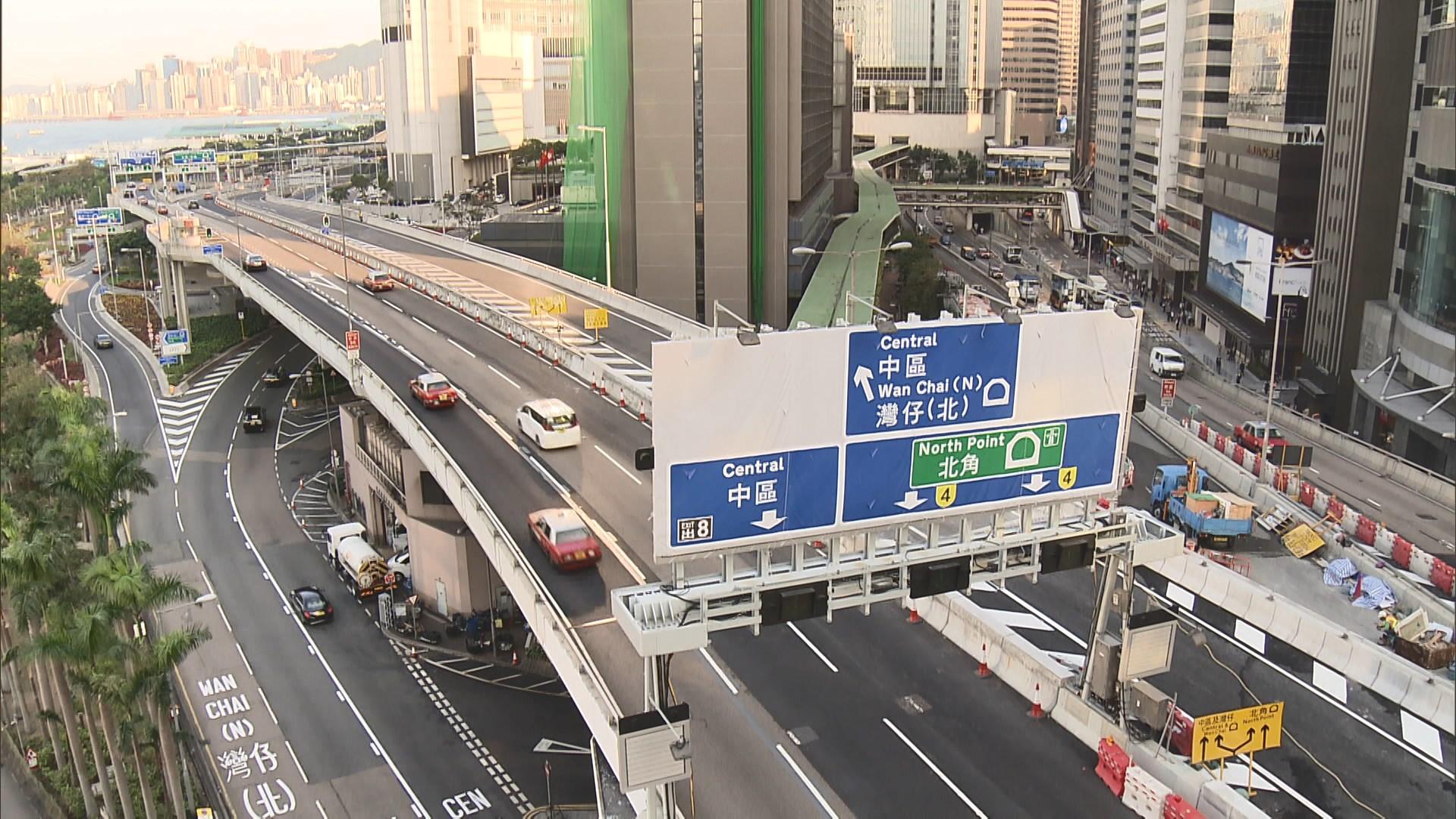 繞道周日全面開通 運輸署將更新及加設路牌