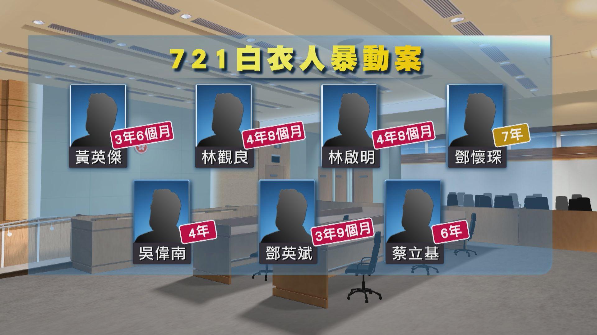 【事發兩年】元朗721白衣人案七人暴動罪成 判囚三年半至七年