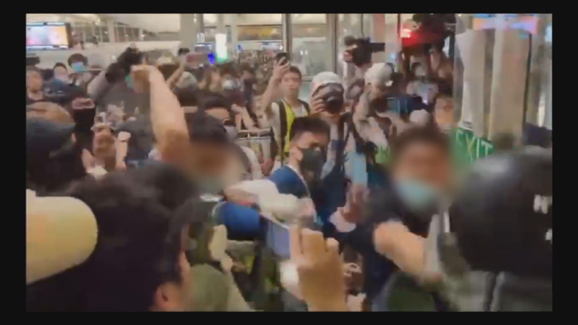前年機場示威四人非法集結暴動罪成囚13及45個月