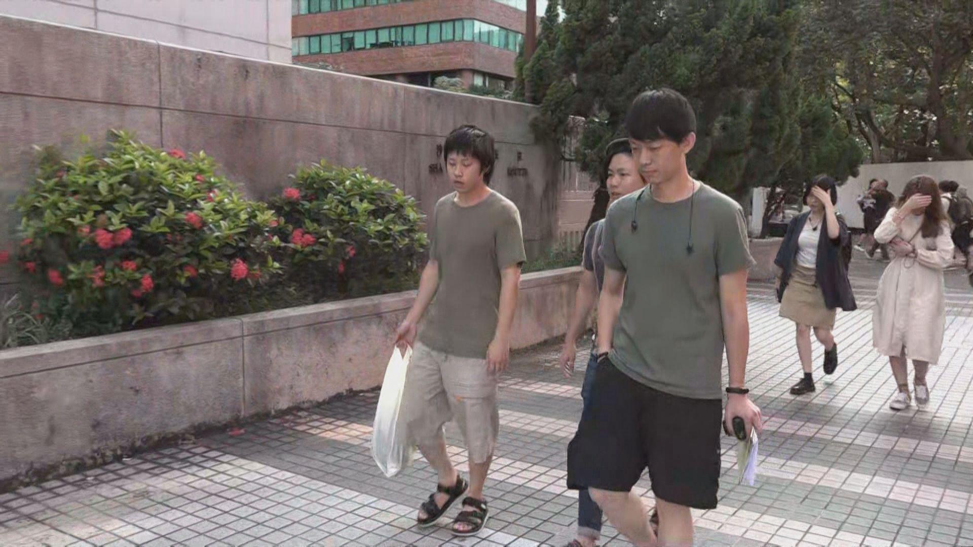 兩人被控刑事毀壞交通燈獲准保釋 下月再訊