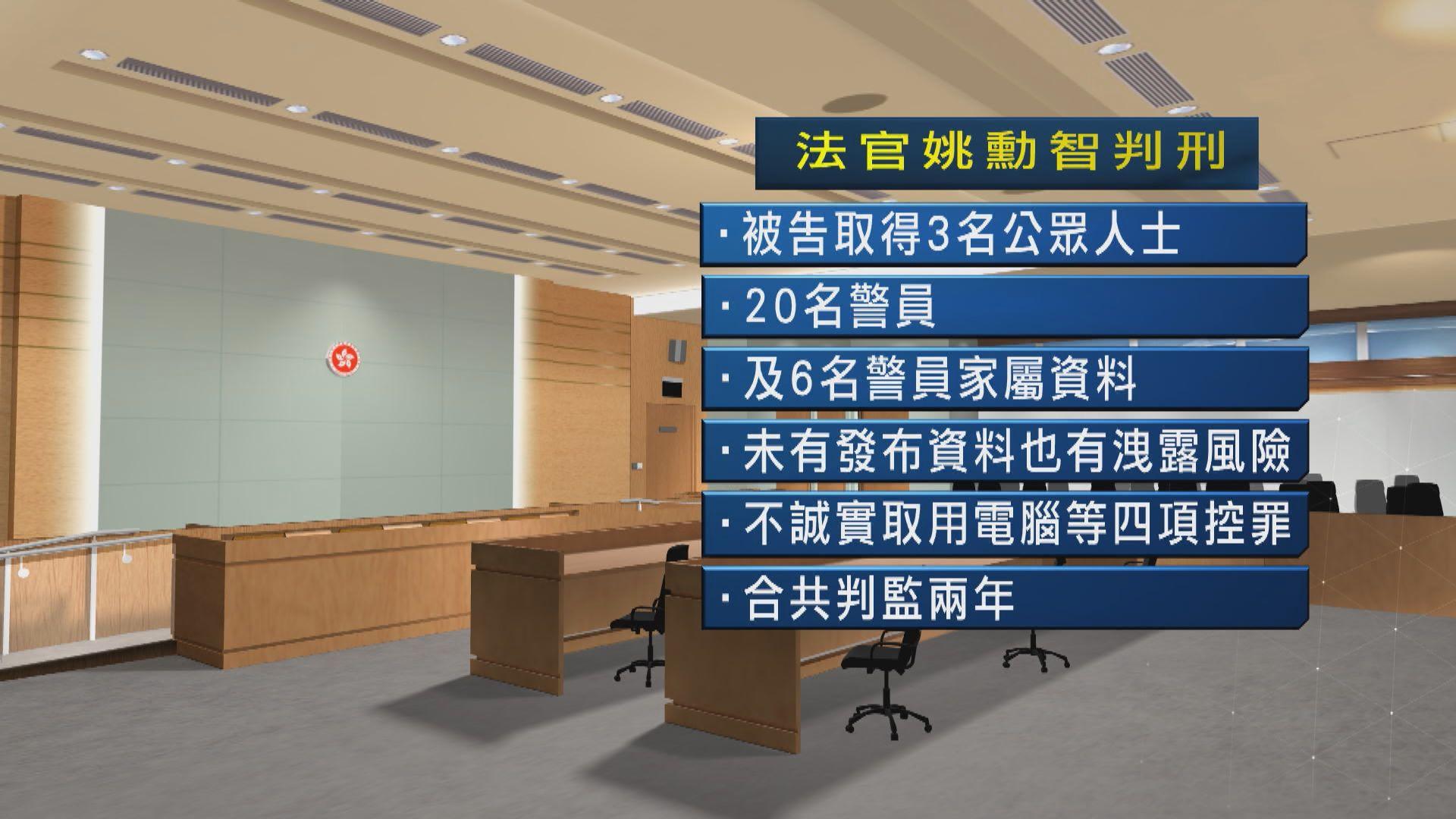 前技術員發布警員家屬資料囚兩年 官:無減刑因素