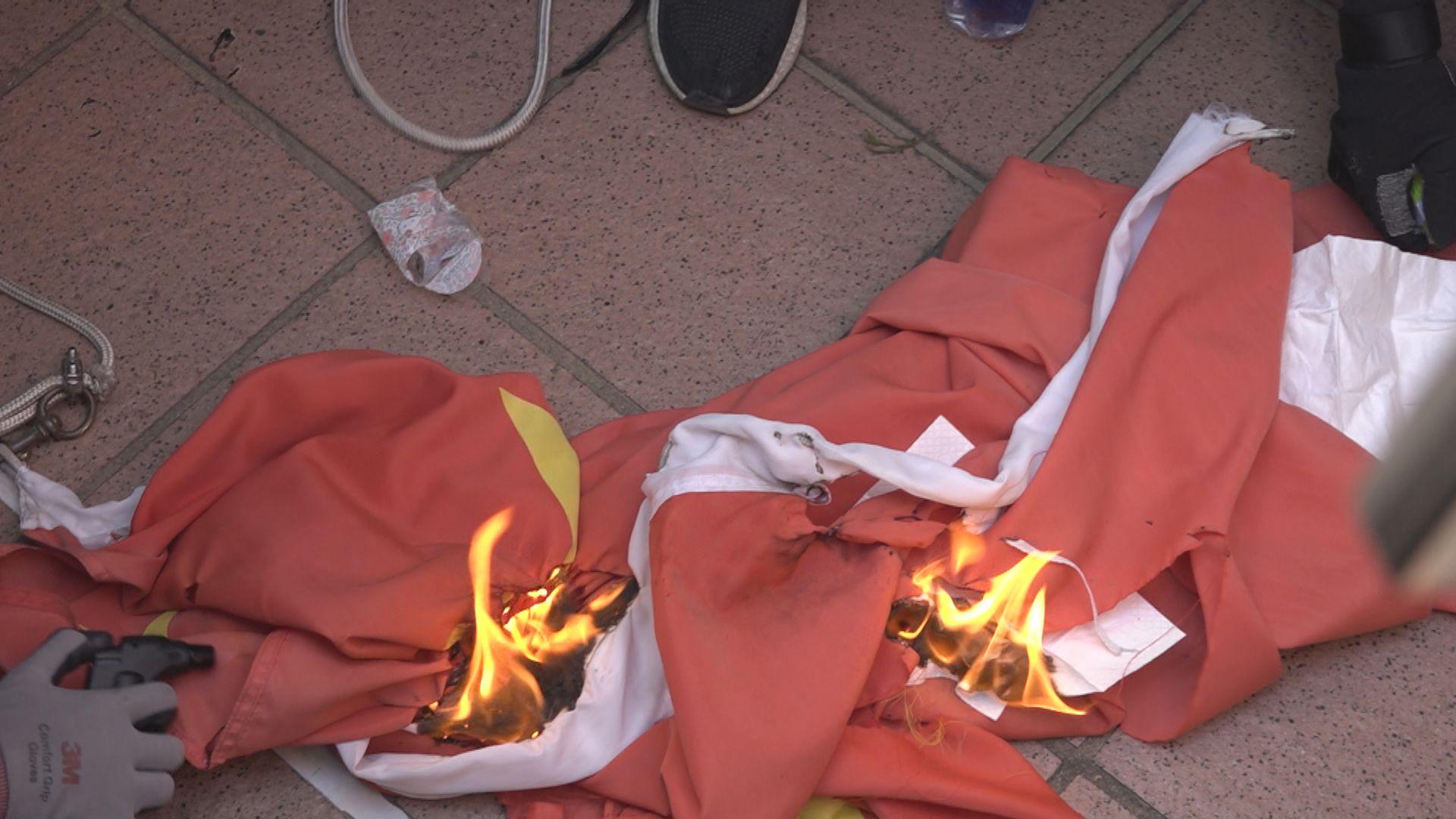 13歲女童屯門焚燒國旗 判12個月感化令