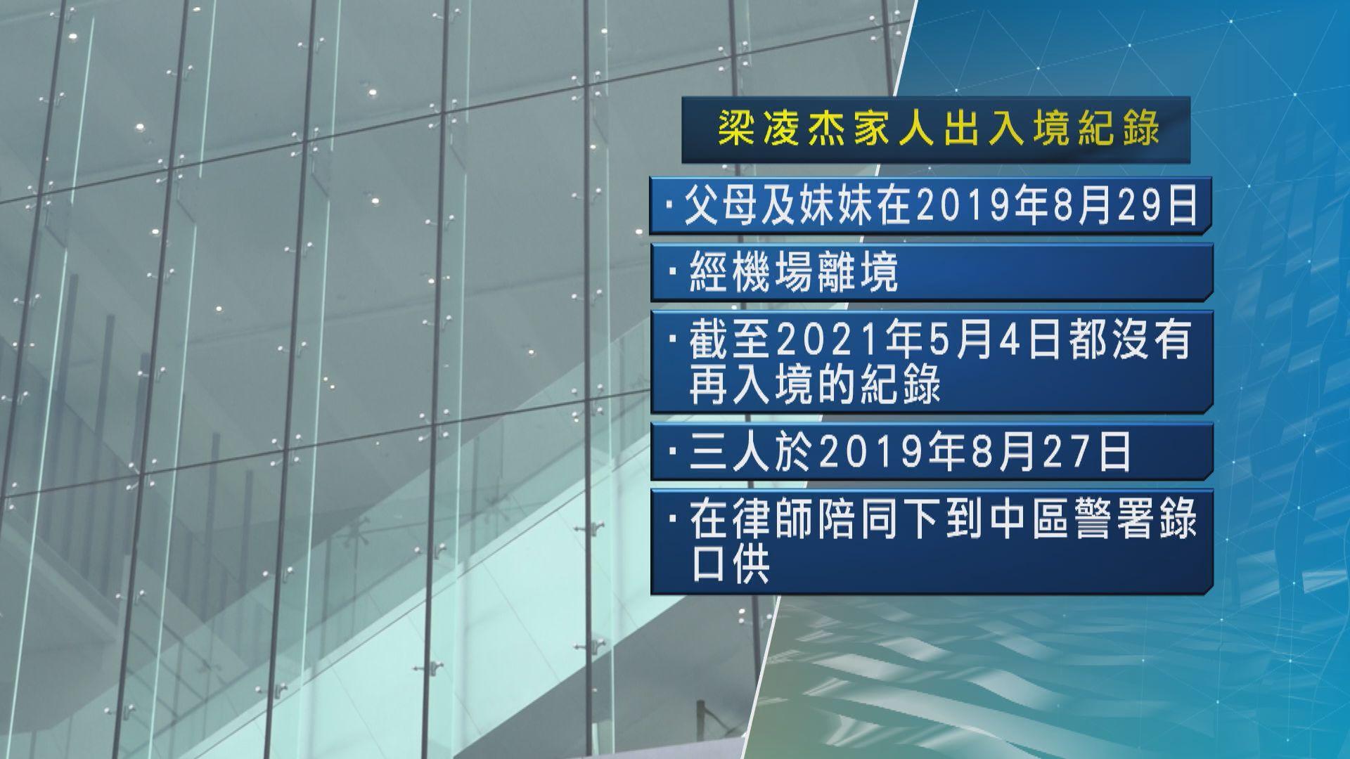 梁凌杰太古廣場墮斃死因研訊 入境紀錄顯示父母前年離港