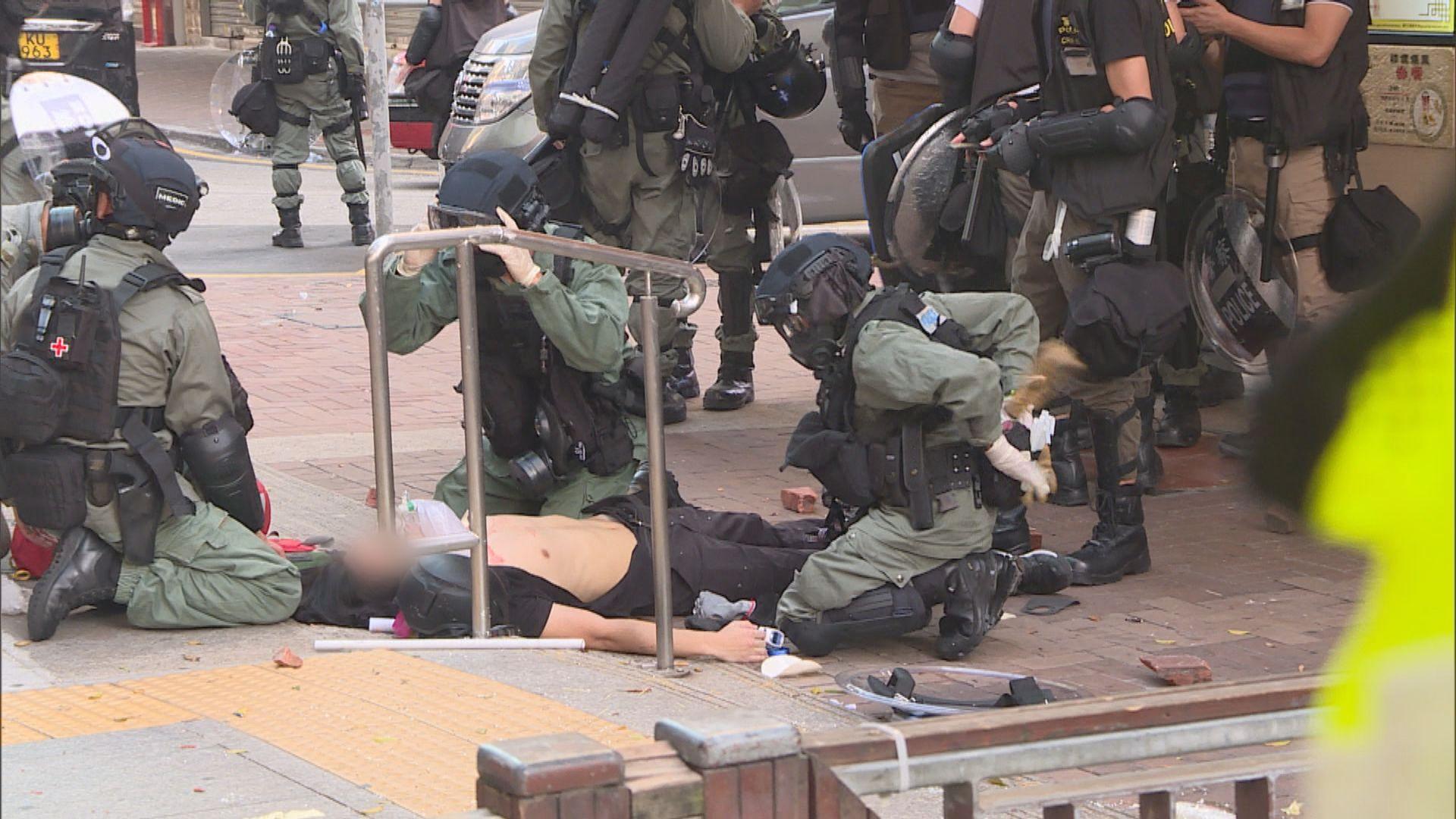 荃灣中槍男生被控參與暴動及襲警下午提堂