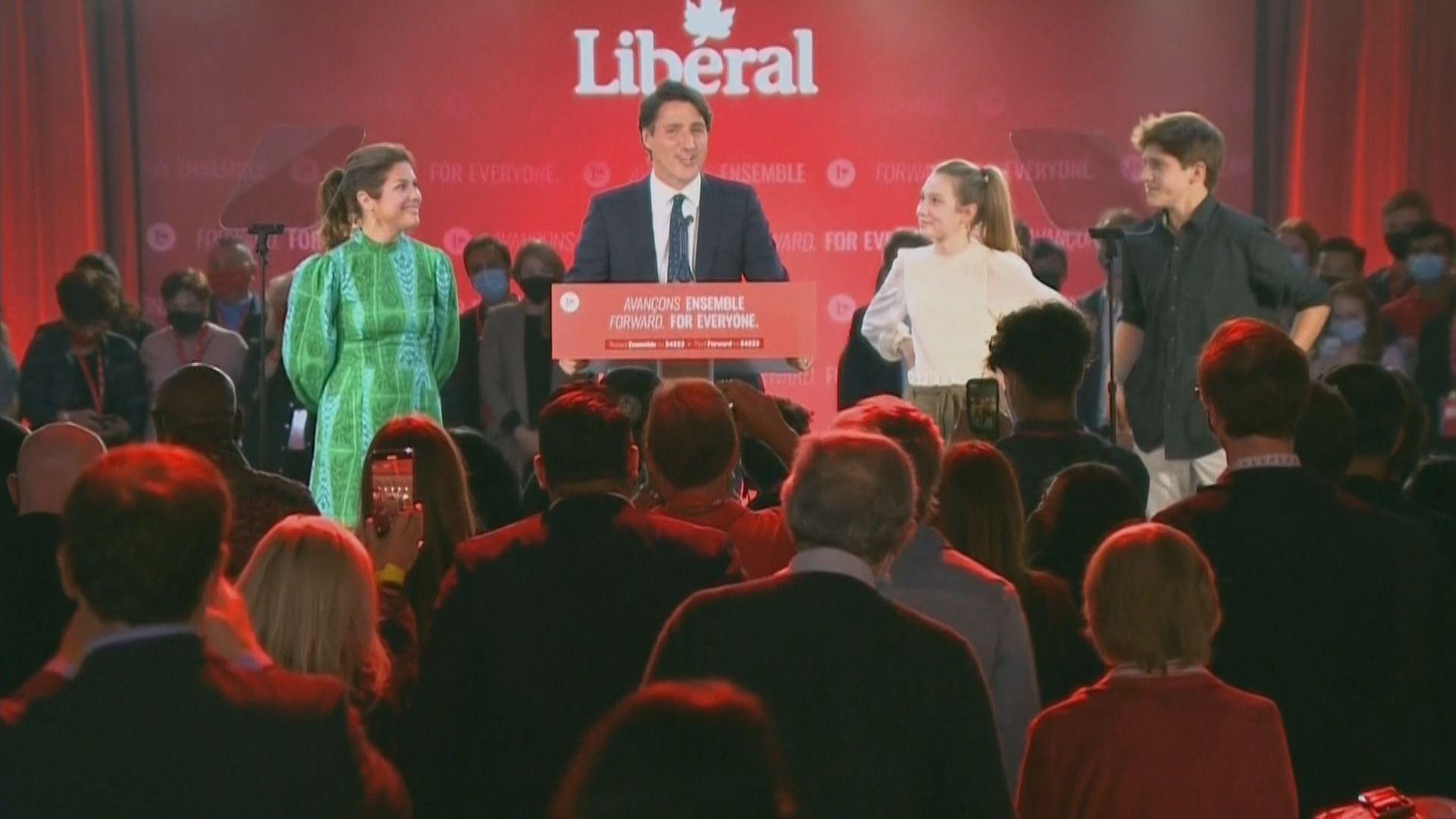 加媒推算杜魯多所屬自由黨勝出大選 需組聯合政府