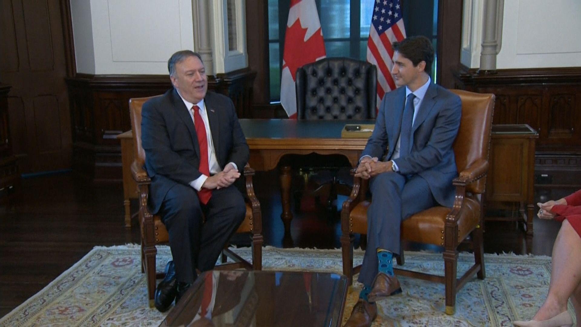 蓬佩奧批中國扣押兩加拿大人是錯誤