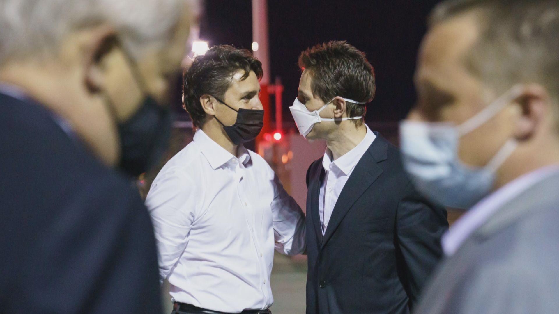 兩名獲釋加拿大公民返抵加國 康明凱感謝各界營救