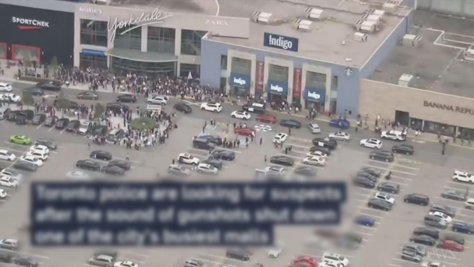 多倫多商場槍擊案兩傷