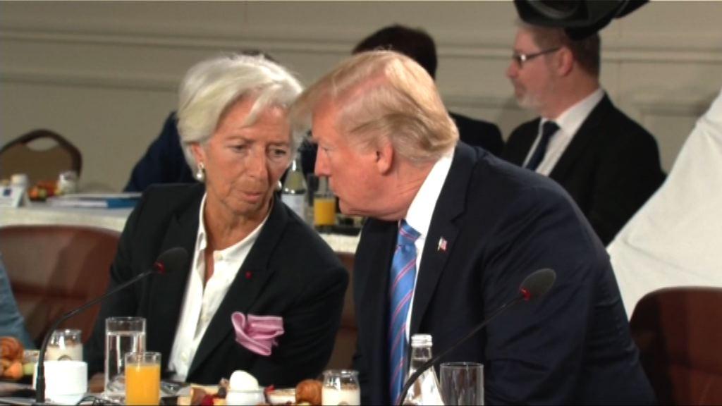 特朗普遲到出席G7早餐會