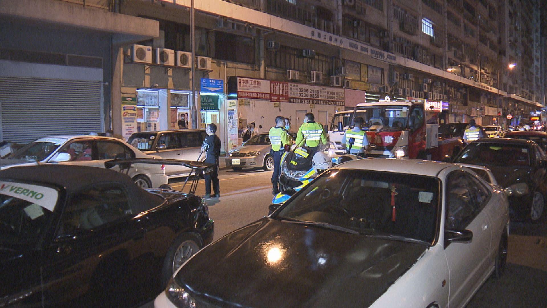 警方反賽車及改裝截獲逾三十車輛