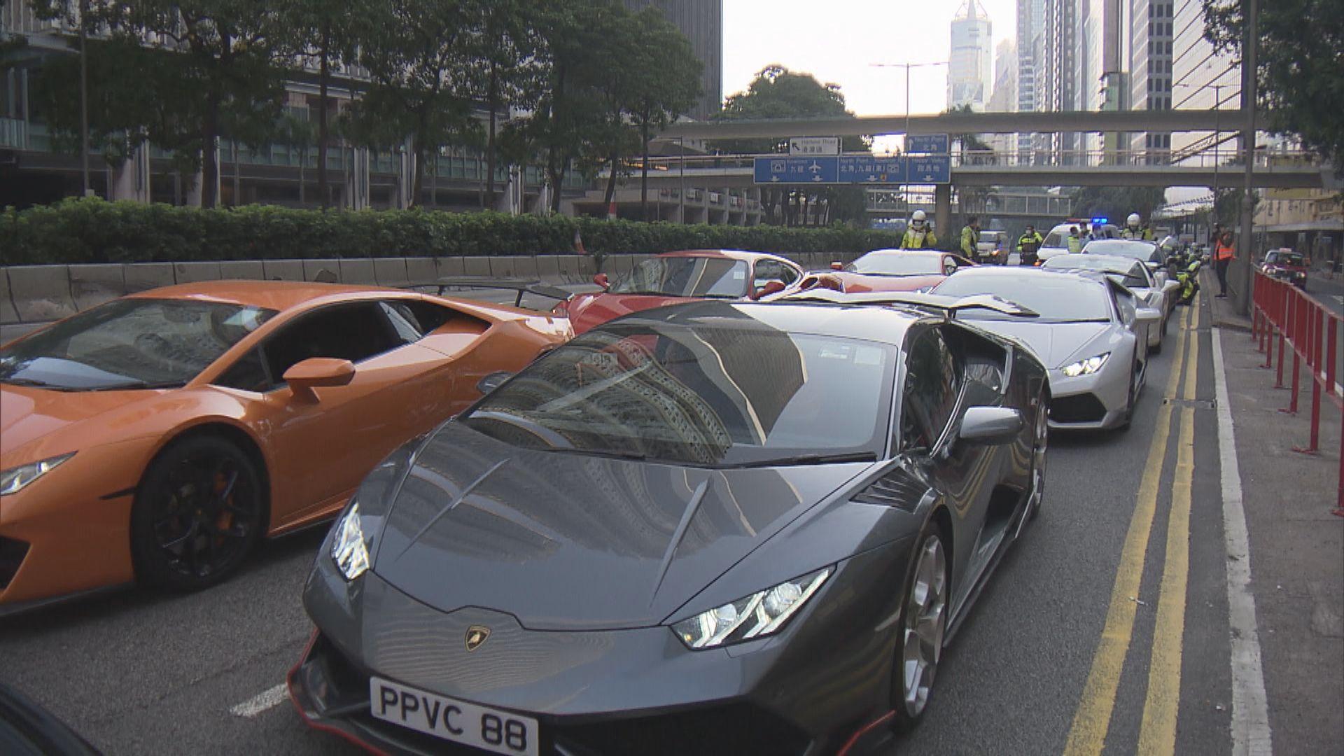 警方在港島區打擊非法賽車