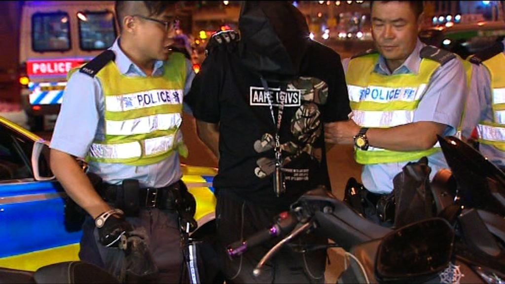 電單車衝路障司機涉藏毒偷車被捕