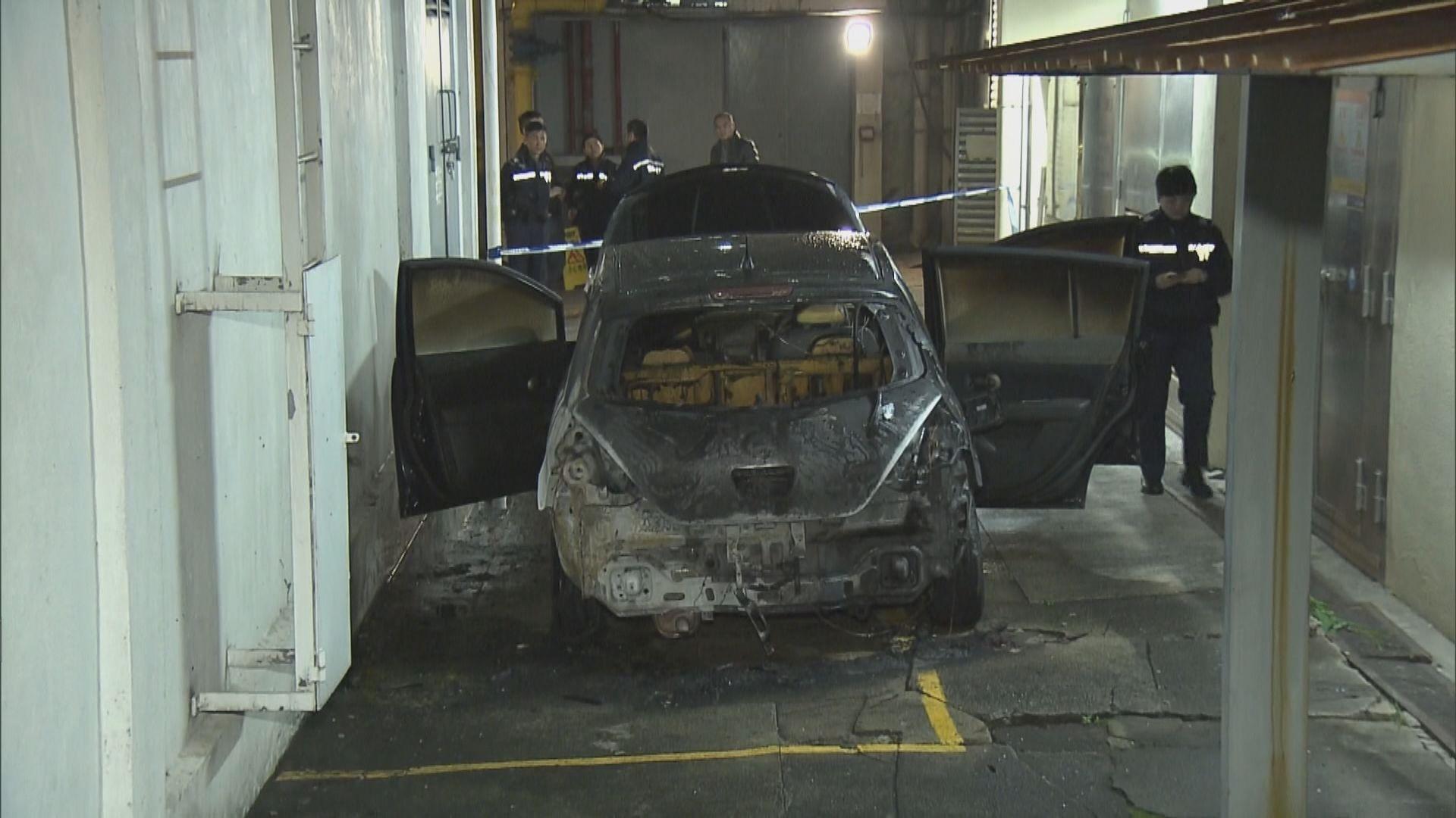 伊利沙伯醫院有私家車被縱火焚毀