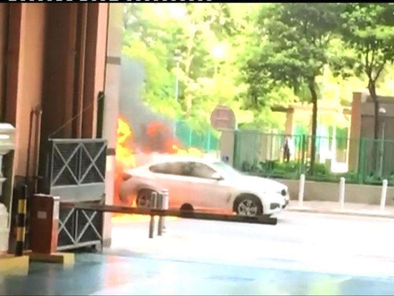 沙田一輛私家車起火焚毀無人傷