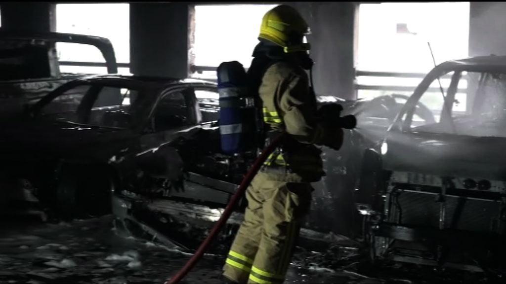 黃大仙停車場七車焚毀警列縱火