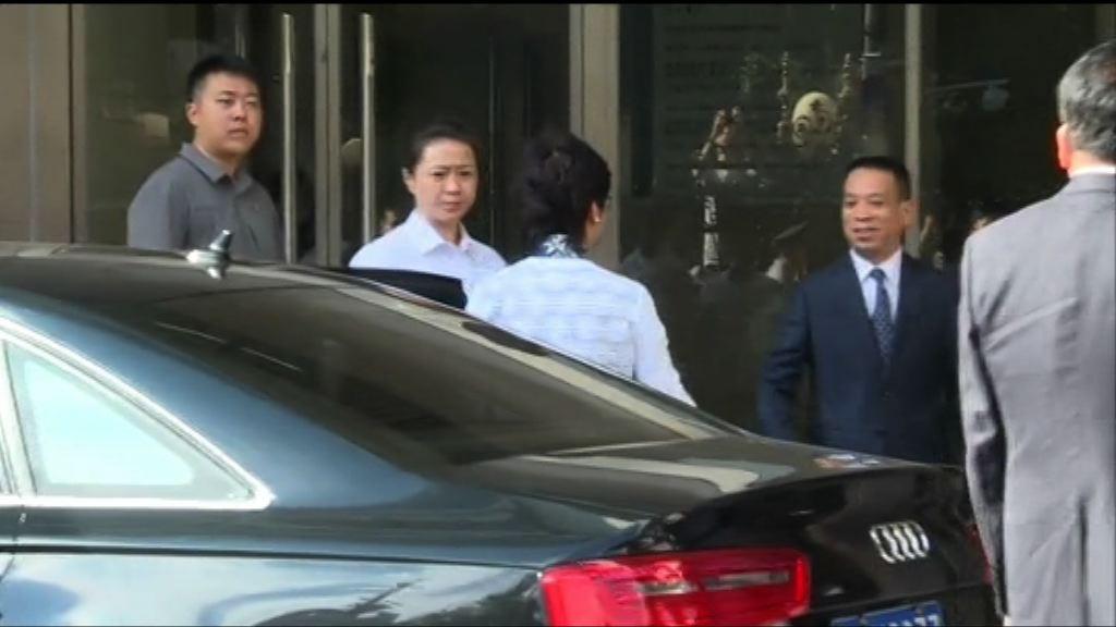 林鄭月娥與港澳辦主任王光亞會面