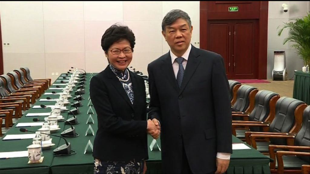 林鄭:香港可加入高鐵大家庭感高興