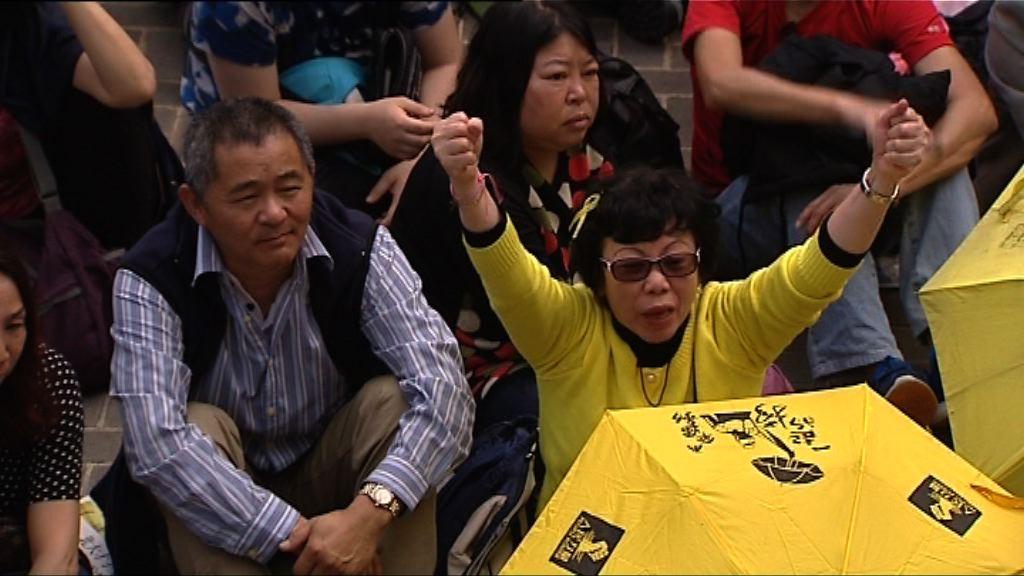 團體集會不滿林鄭月娥參選特首