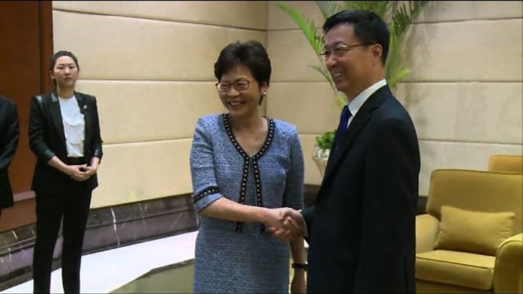 林鄭月娥拜會上海市領導