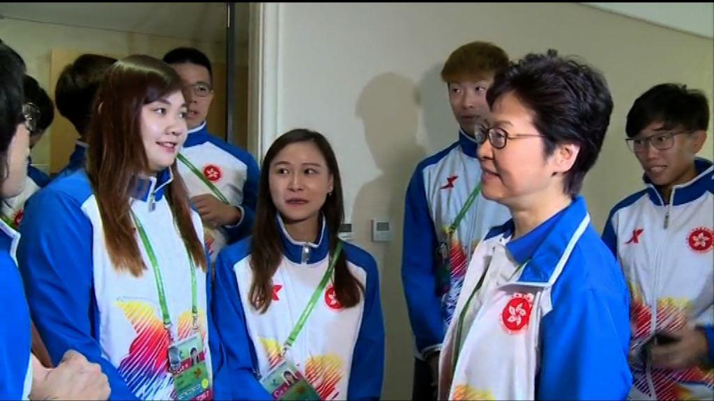 林鄭:政府重視運動員退役後安排