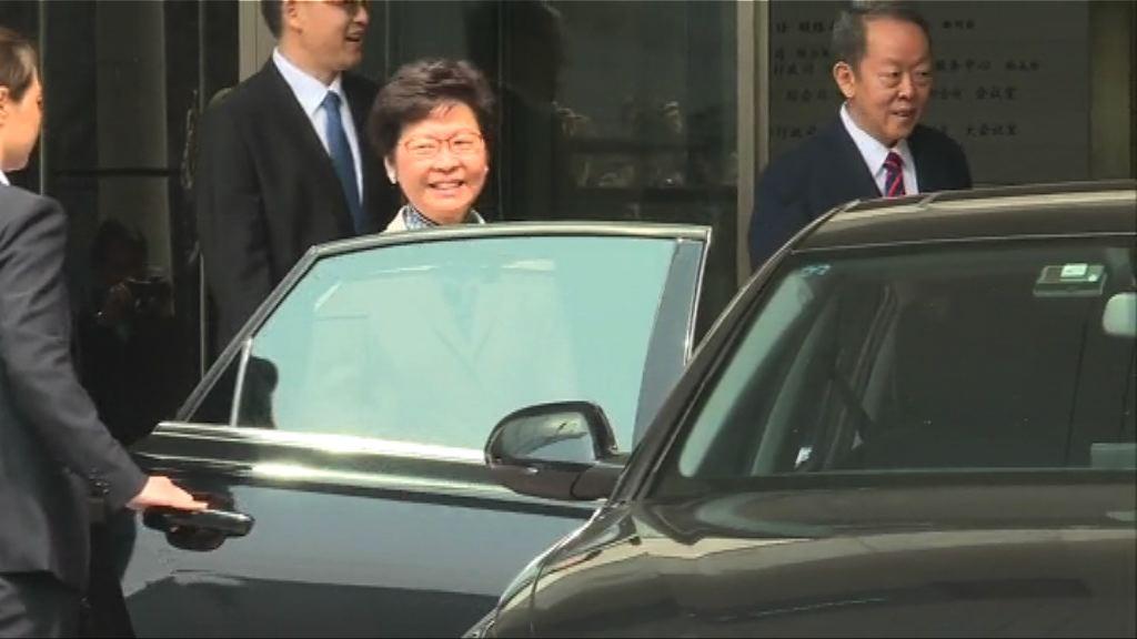 林鄭月娥見王光亞 未回應組班問題