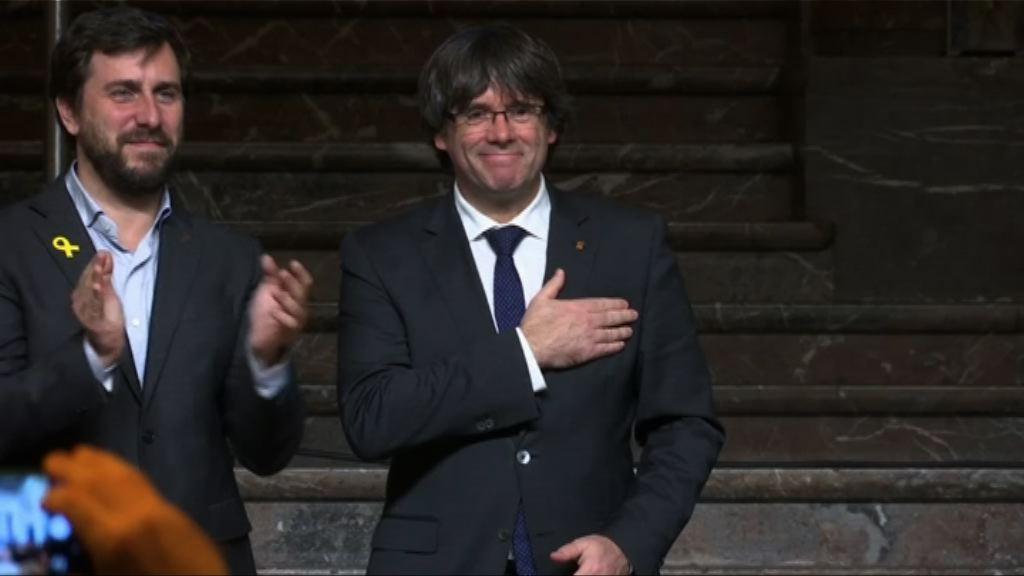 西班牙法院撤銷加泰前主席等人通緝令