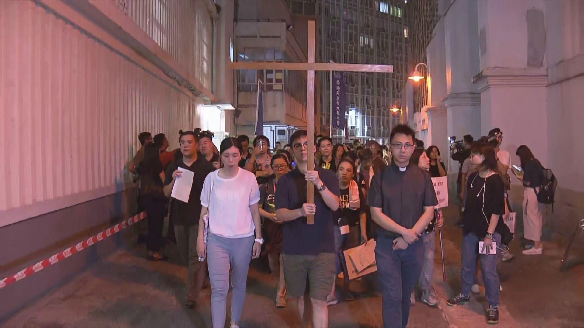 天主教團體燭光遊行促撤回修例