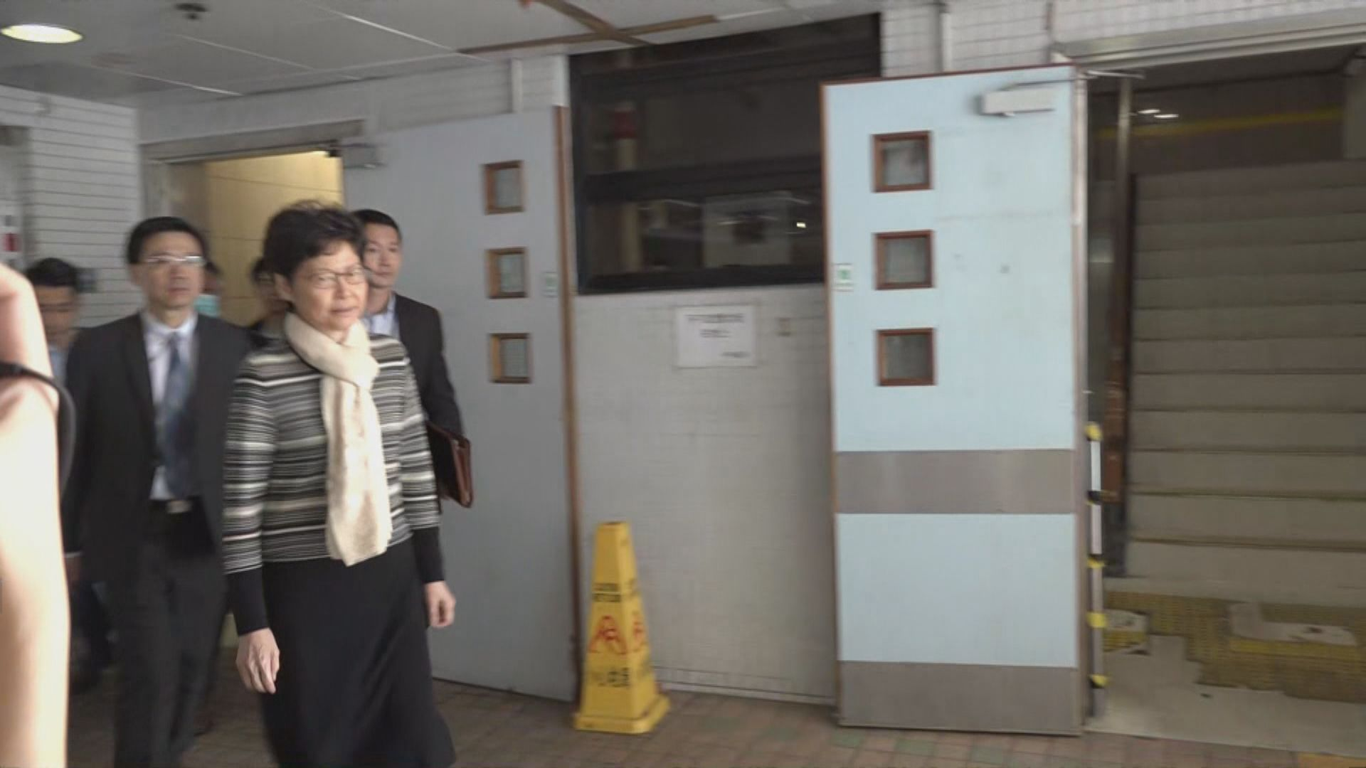 林鄭月娥到廣華醫院探望中箭警員