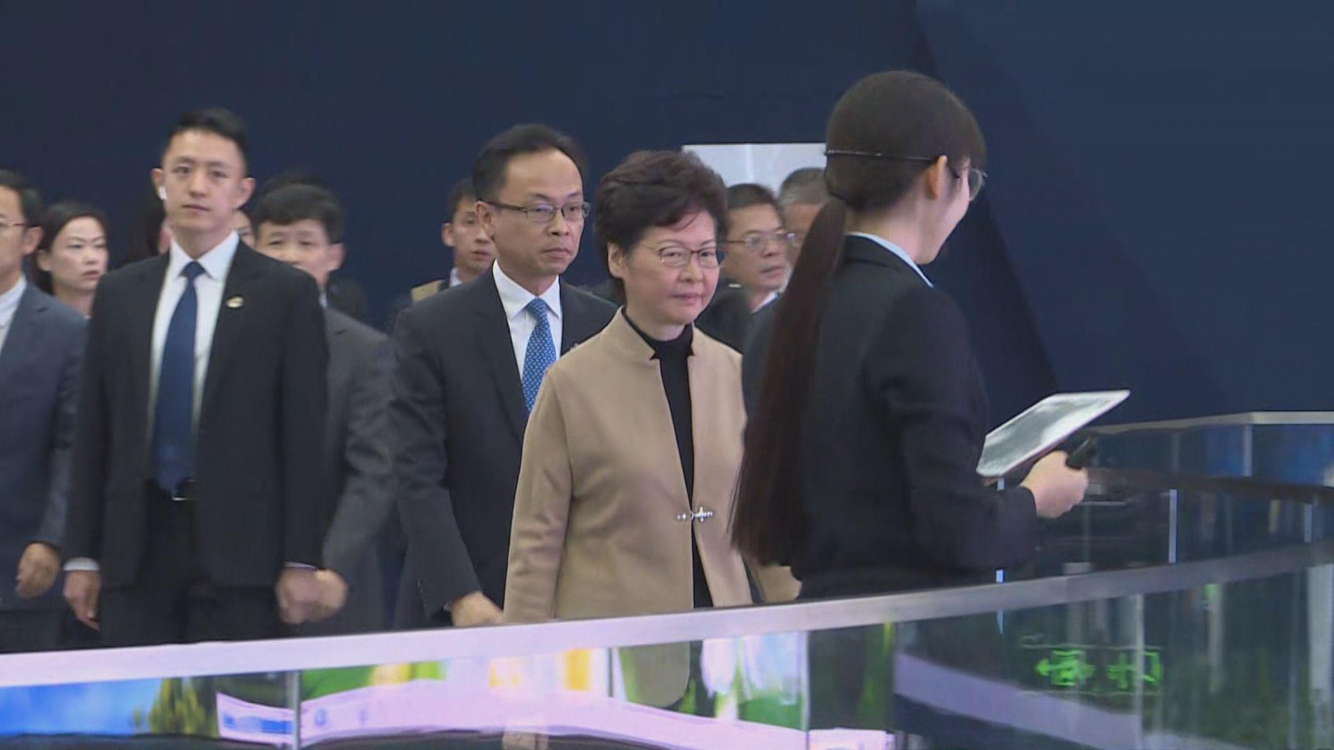 林鄭早上南京繼續訪問行程 未有回應記者提問