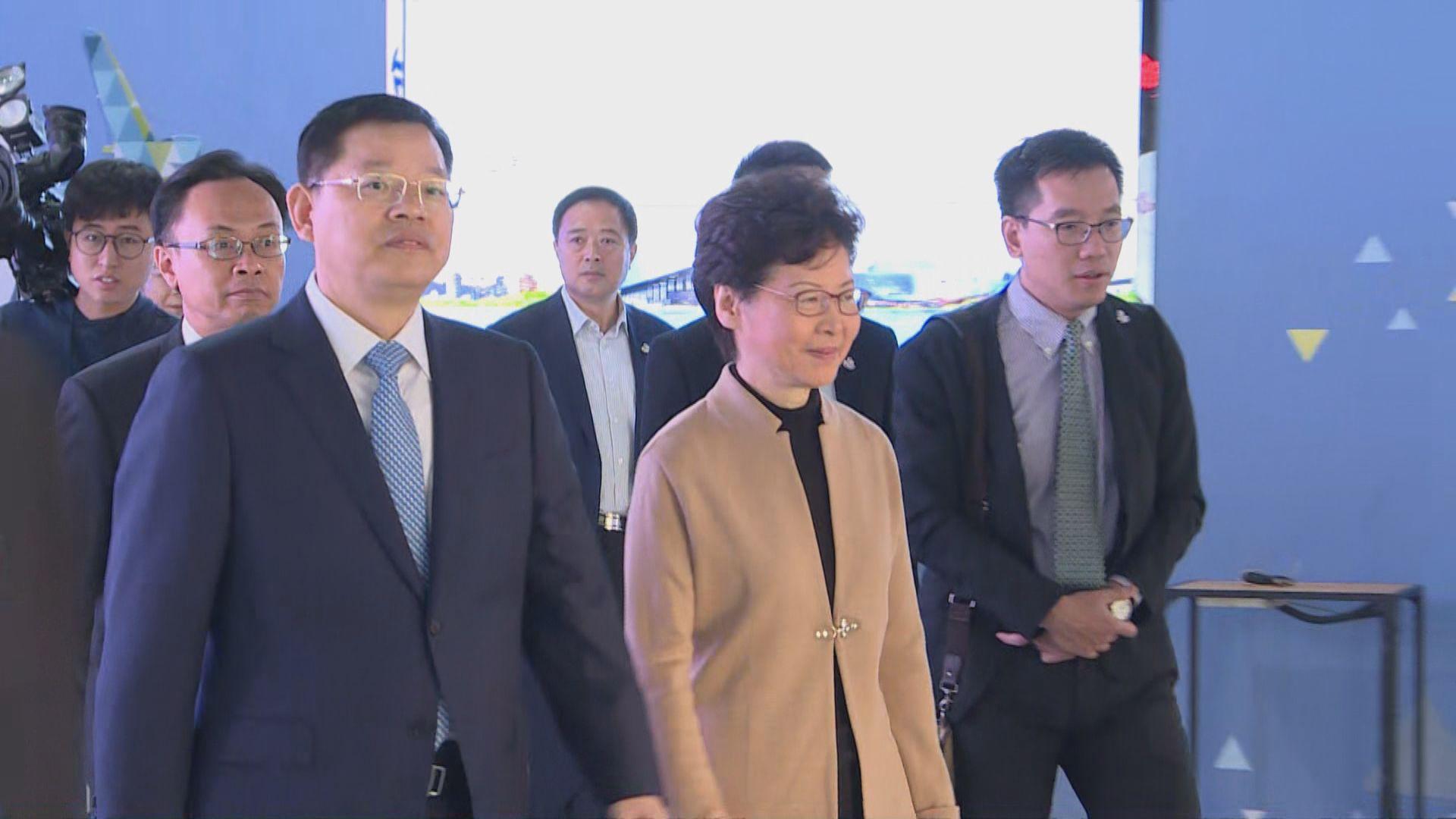 林鄭周三赴京與韓正會面 聶德權陳國基隨行