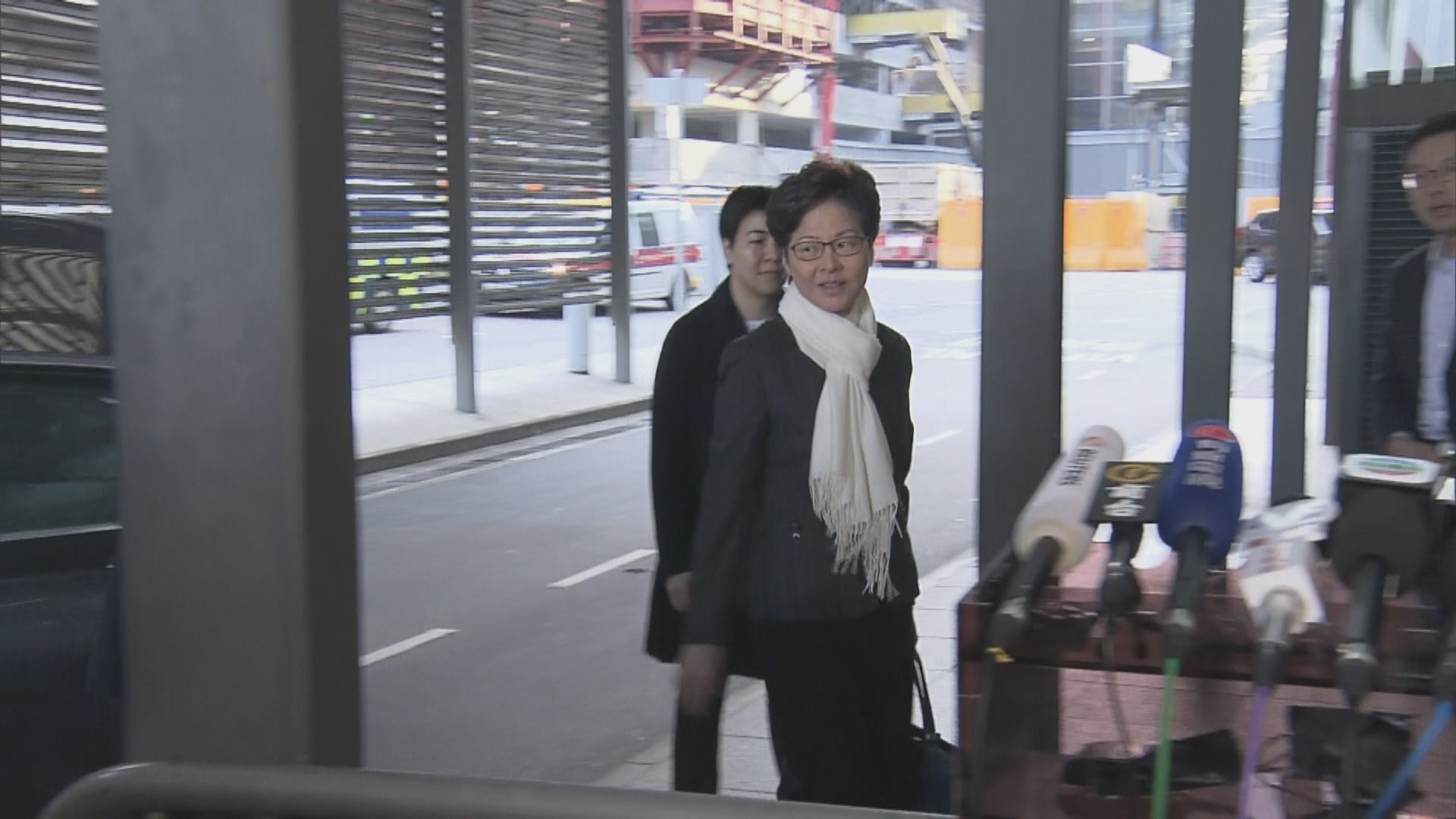 林鄭月娥出發往北京述職