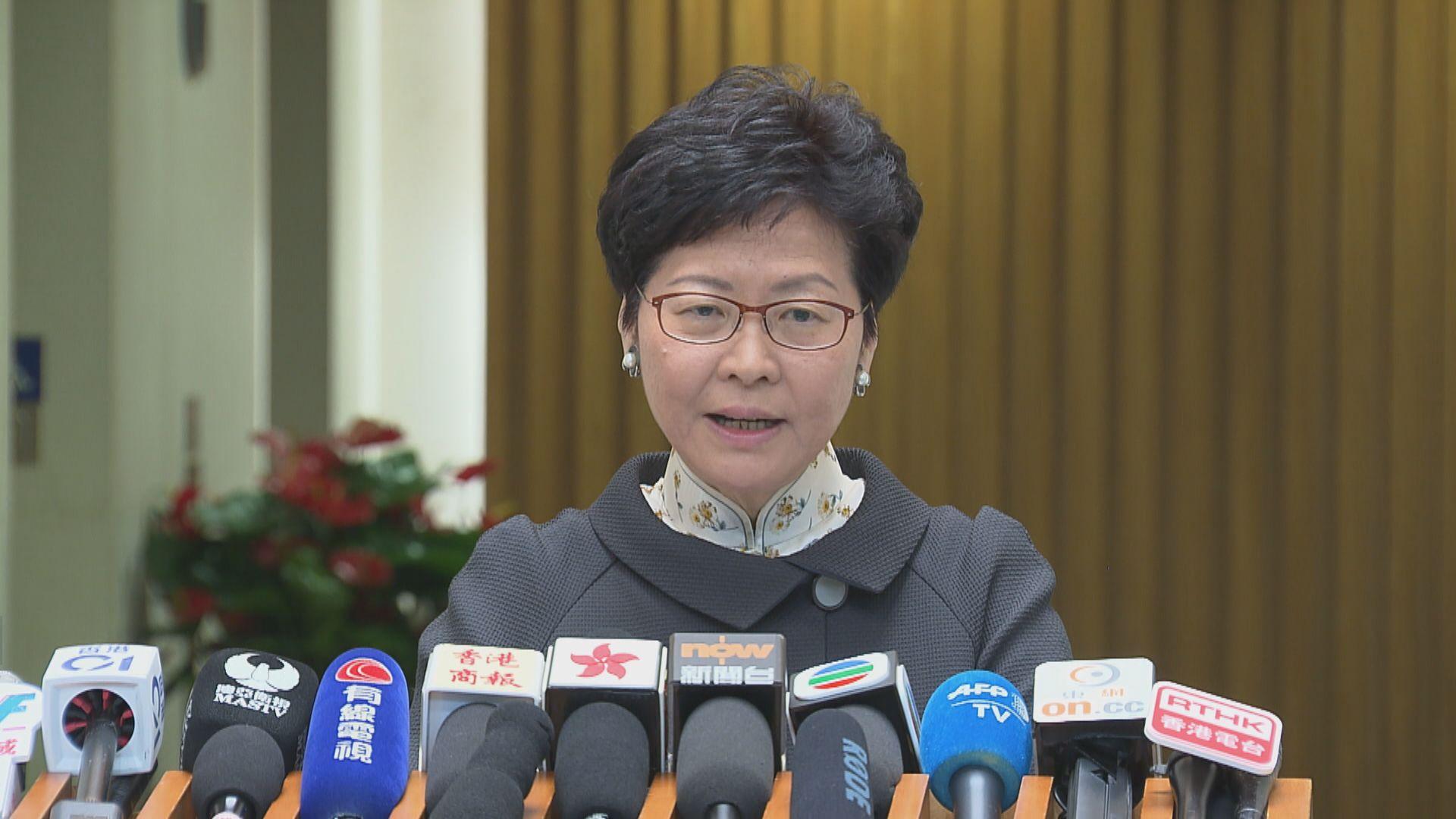 林鄭拒評馬凱簽證事件 指港府不容忍港獨
