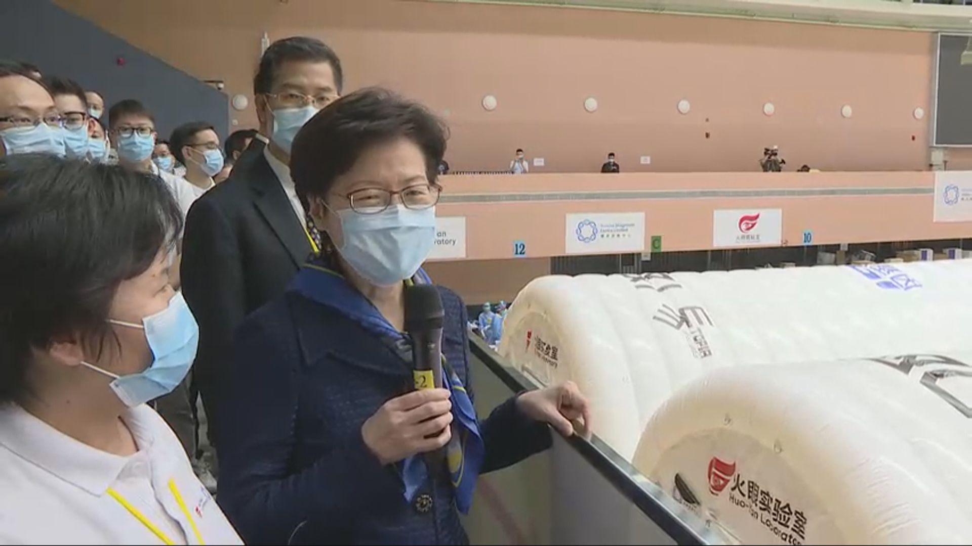 林鄭:每日送交氣膜實驗室的樣本均可當日完成檢測