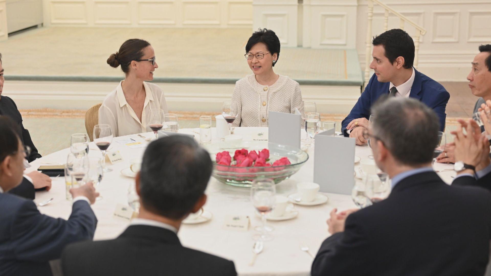 林鄭宴請商會代表 稱會盡力處理近期紛爭