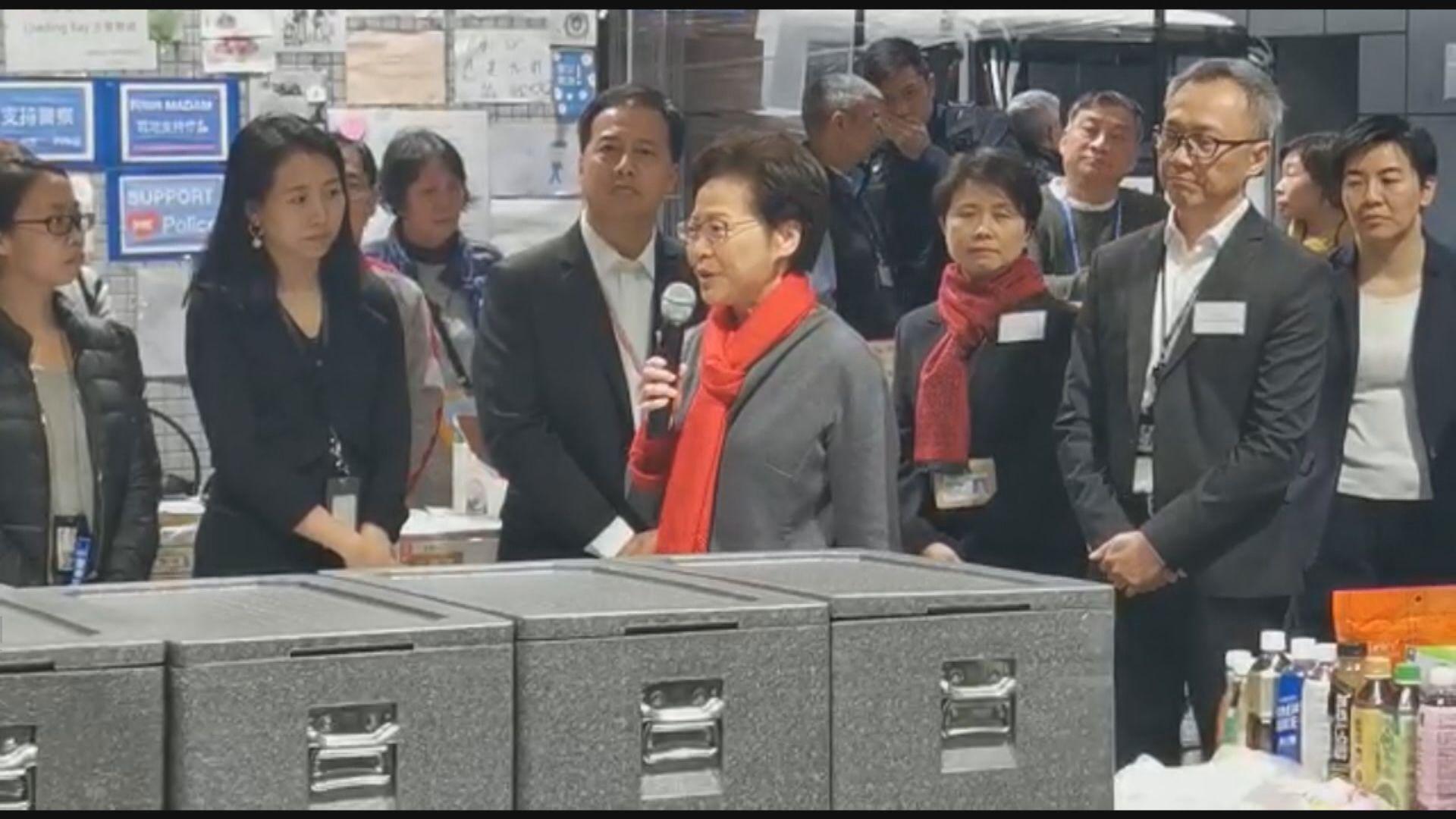 林鄭:市民及國際社會早晚會知道香港警隊是卓越