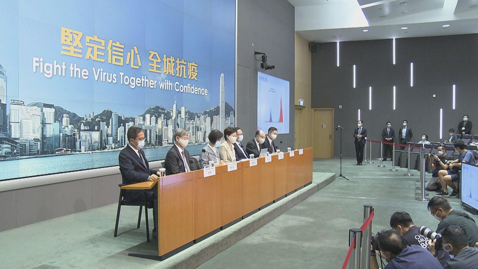 林鄭:正跟關閉處所的業界商討如何逐步有序地重開業務