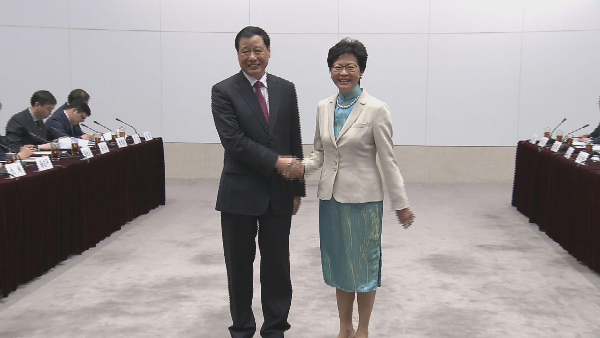 滬港合作會議 林鄭倡滬港合作推動發展